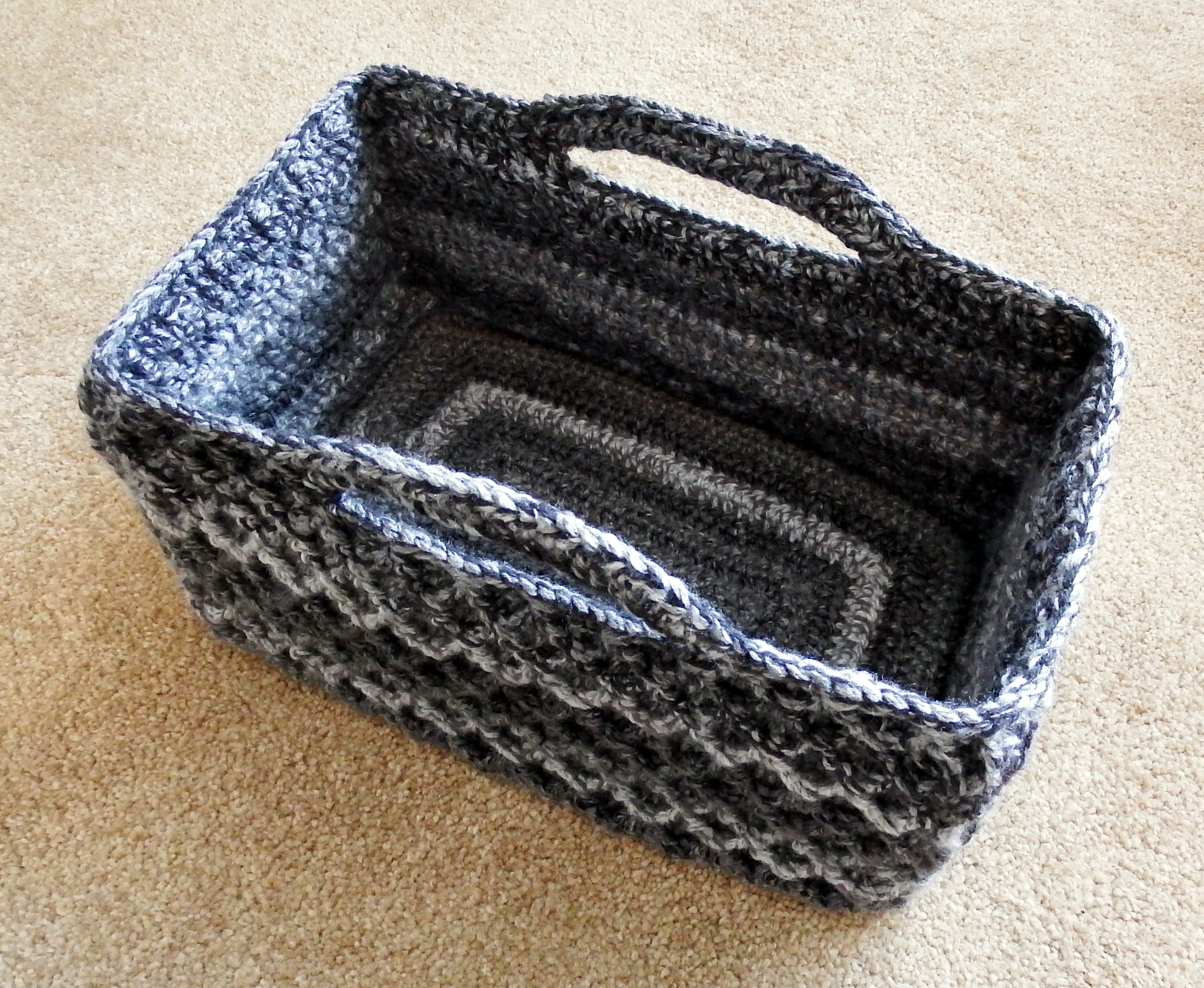 Free Printable Crochet Basket Patterns : Rectangular Diamond Trellis Basket Make My Day Creative