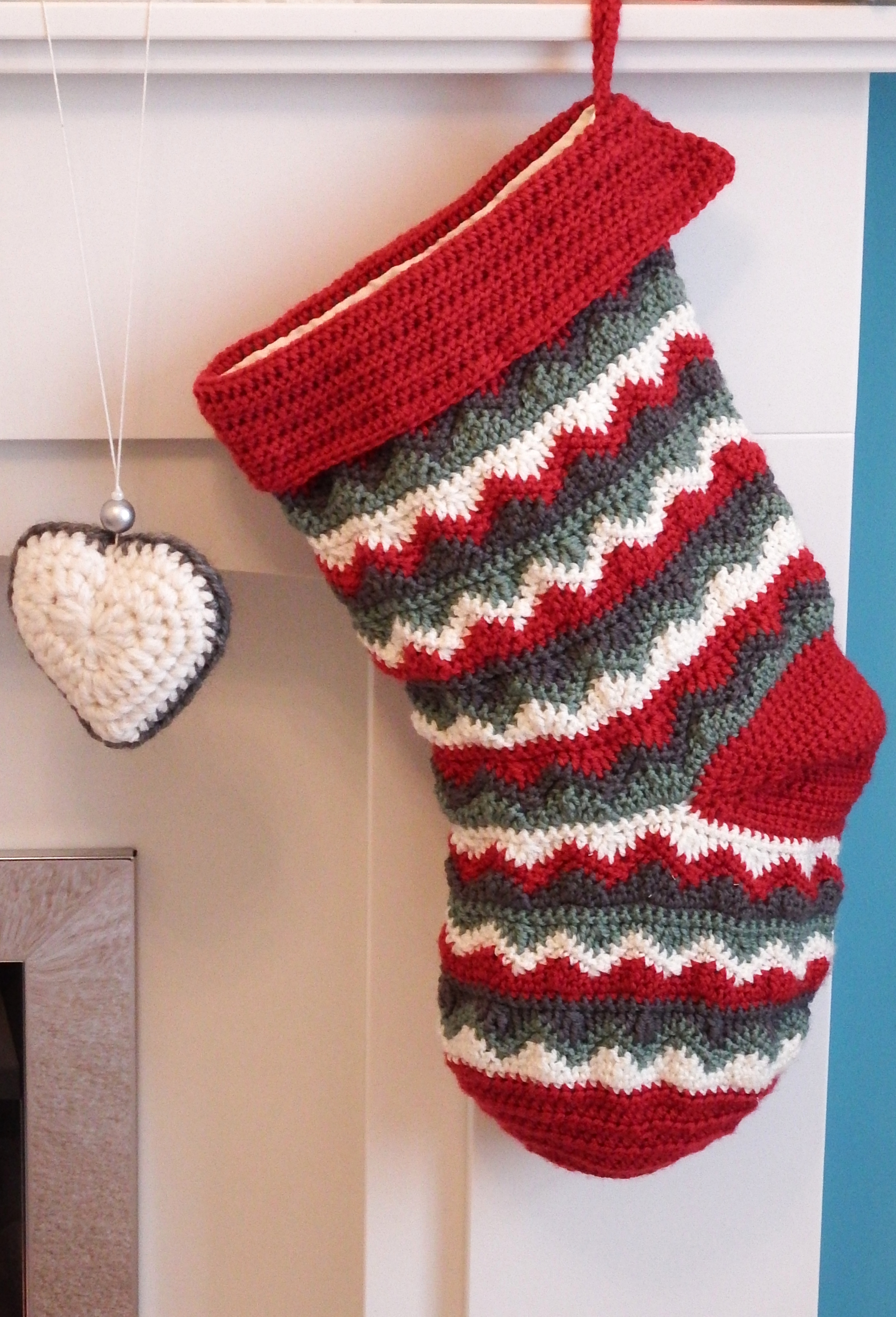 Crochet Patterns For Xmas Stockings : Christmas Stocking Make My Day Creative