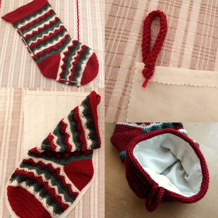 How to finish off a crochet Christmas stocking