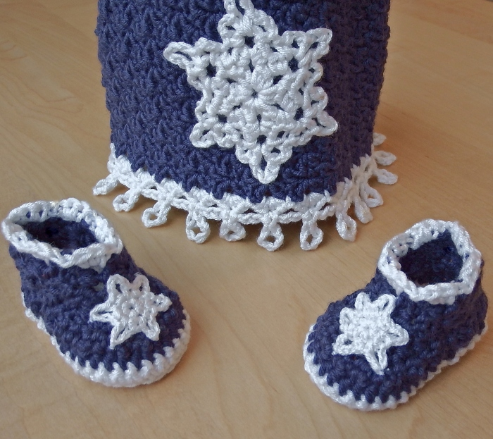 Icicles Hat and Booties - Free Crochet Pattern