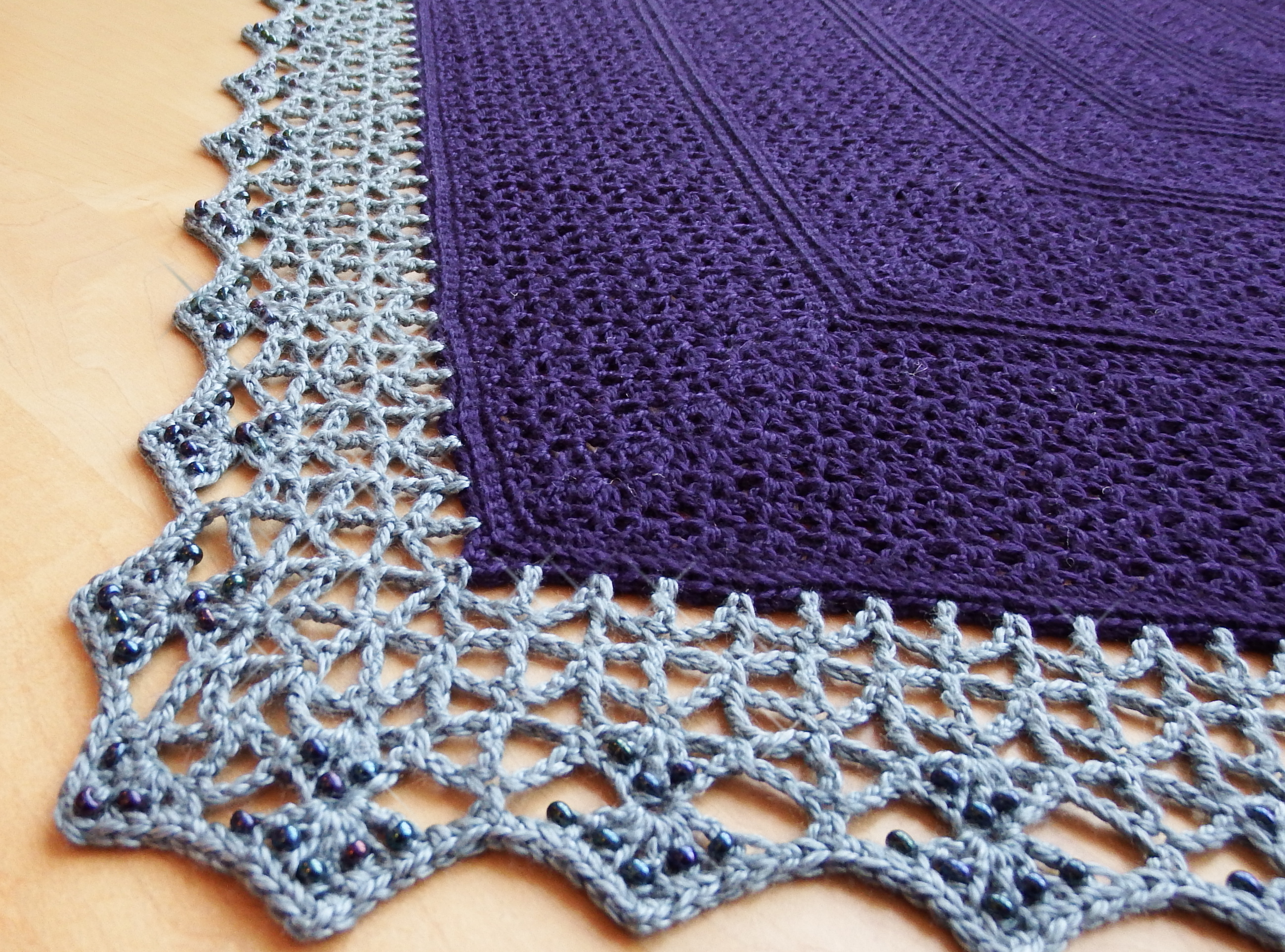 Crochet Lace Pattern For Edging : Atlantic Lace Shawl Make My Day Creative