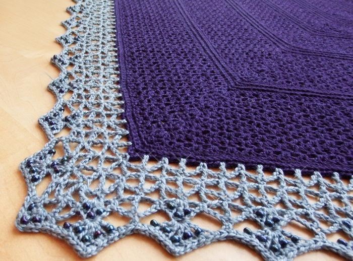 Atlantic lace shawl beaded crochet border- free pattern
