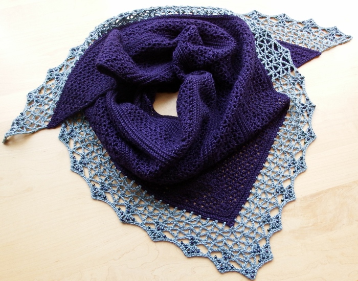 Atlantic Lace Shawl is a centre top out construction