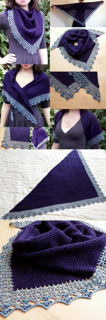 Atlantic Lace Shawl - with beaded edge.  Free crochet pattern from Make My Day Creative