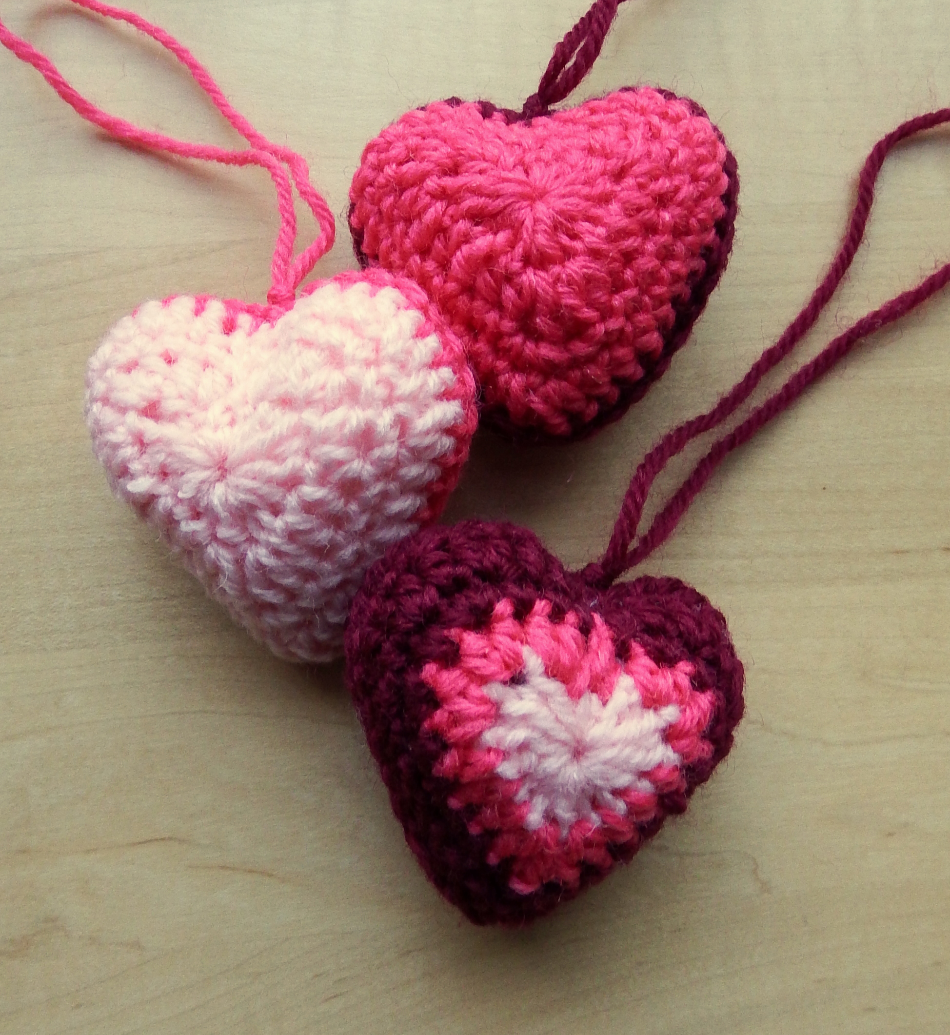 Hanging hearts make my day creative crochet heart decorations free pattern from make my day creative bankloansurffo Images