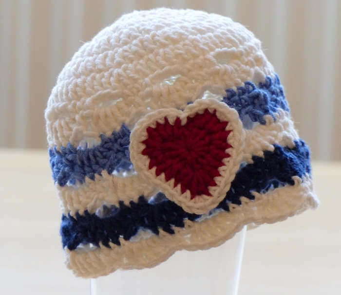 Nautical Hat - a free crochet pattern from Make My Day Creative