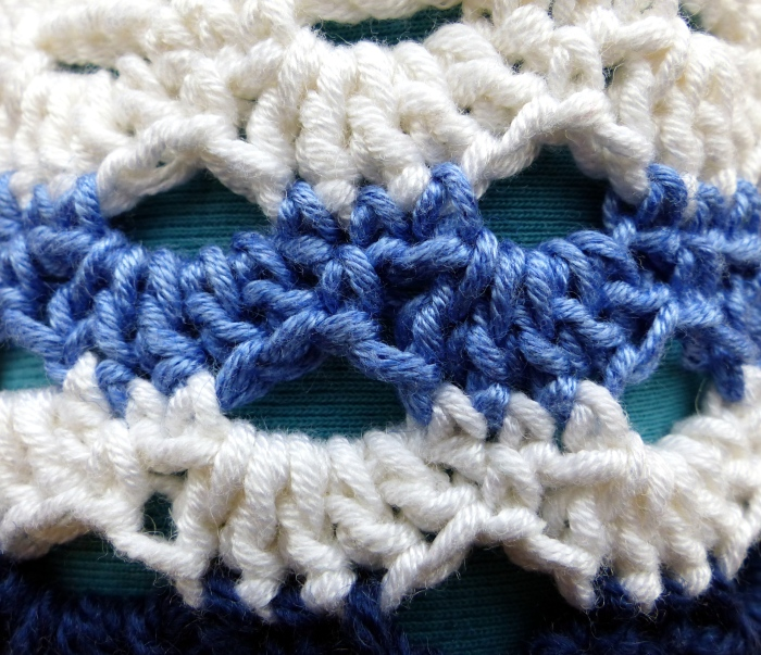 Arcade crochet stitch pattern in stripes