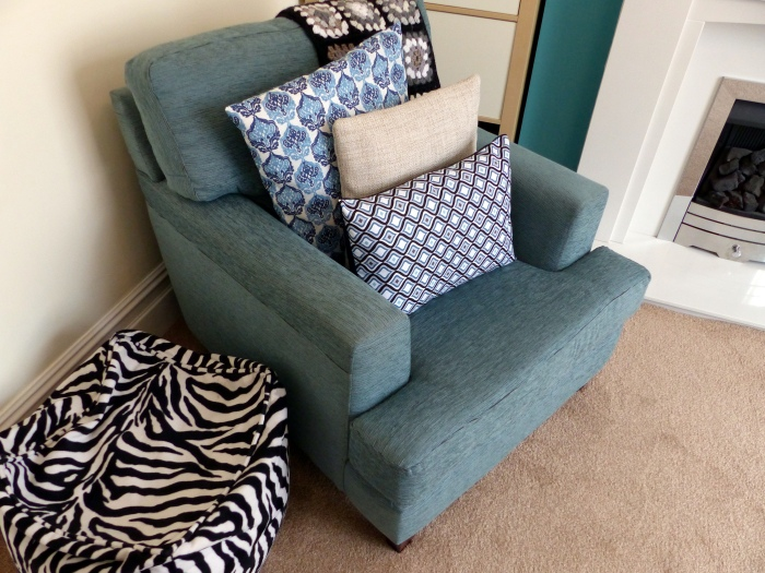 Blue cushions for my blue chair