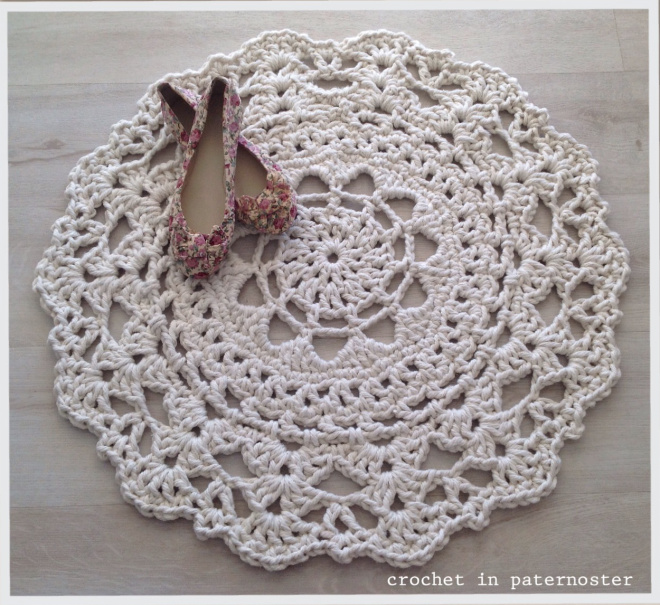Crochet in Paternoster Doily Rug (visit this blog for more inspiration)