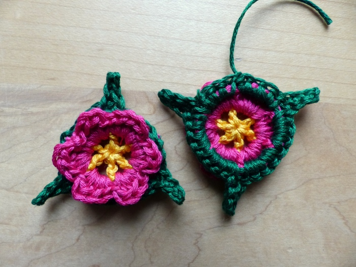 Round 4 of Baby Barefoot Flower Sandals - free crochet pattern from Make My Day Creative
