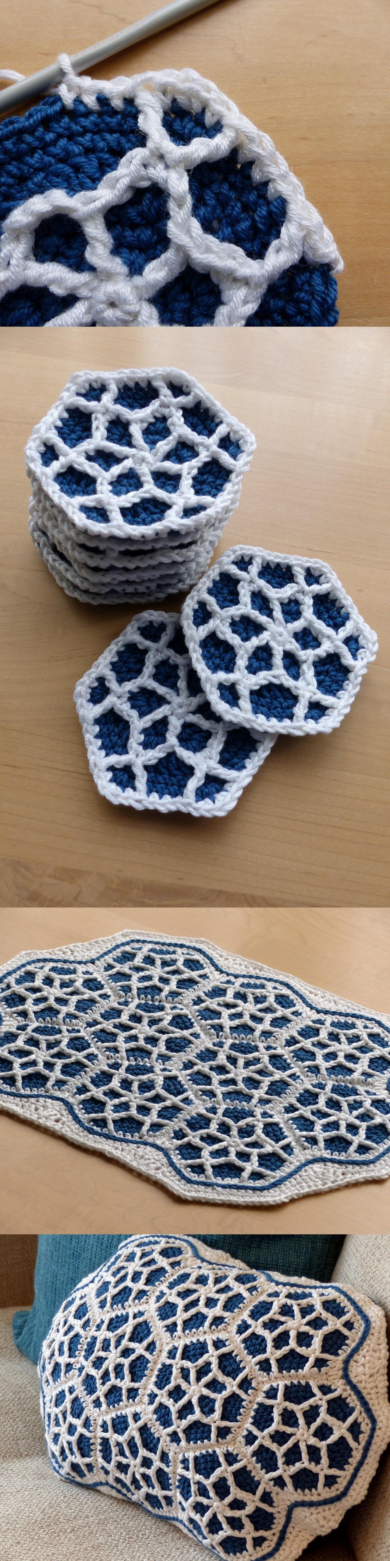 Free Crochet Pattern Octagon Motif : Moroccan Motif Cushion Make My Day Creative