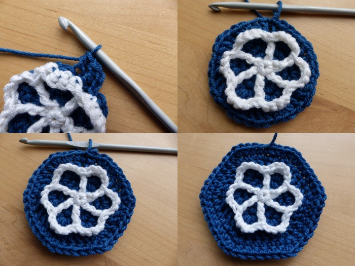 Moroccan Hexagon Motif Rounds 6 to 8 - Free Crochet Pattern by Make My Day Creative