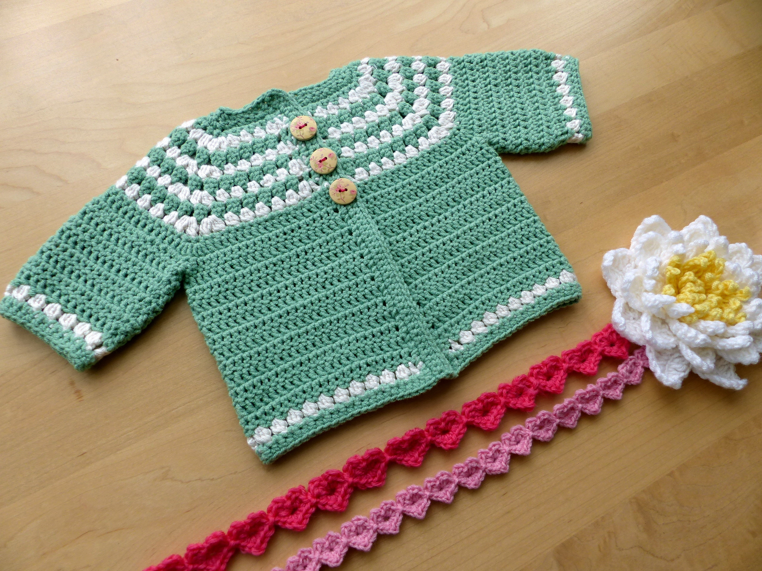 Cluster Yoke Baby Cardigan | Make My Day Creative