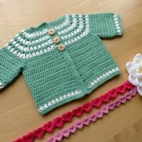 Cluster Yoke Baby Cardigan