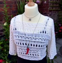 Indian Summer Lace Top - free crochet pattern from Make My Day Creative