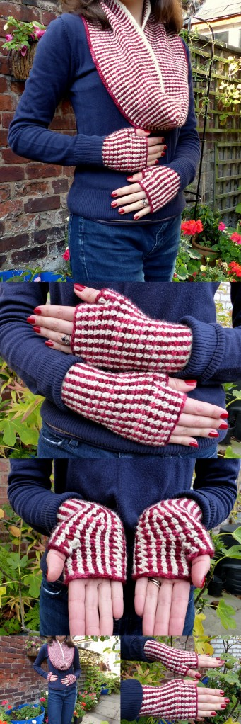 Linen Stitch Gloves and Cowl set - Free crochet patterns from Make My Day Creative