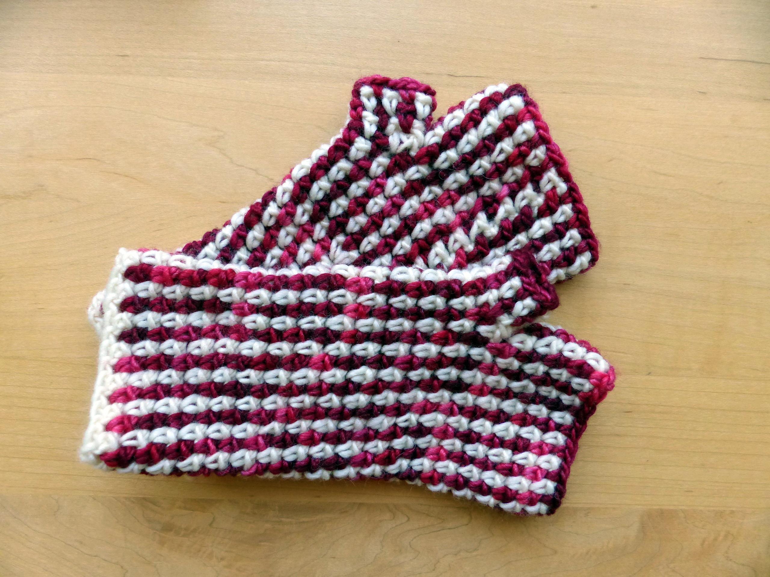 Linen Stitch Fingerless Gloves Make My Day Creative