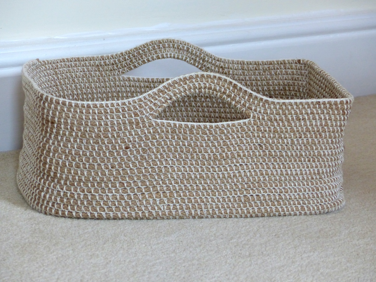 Crochet Rope Basket Update