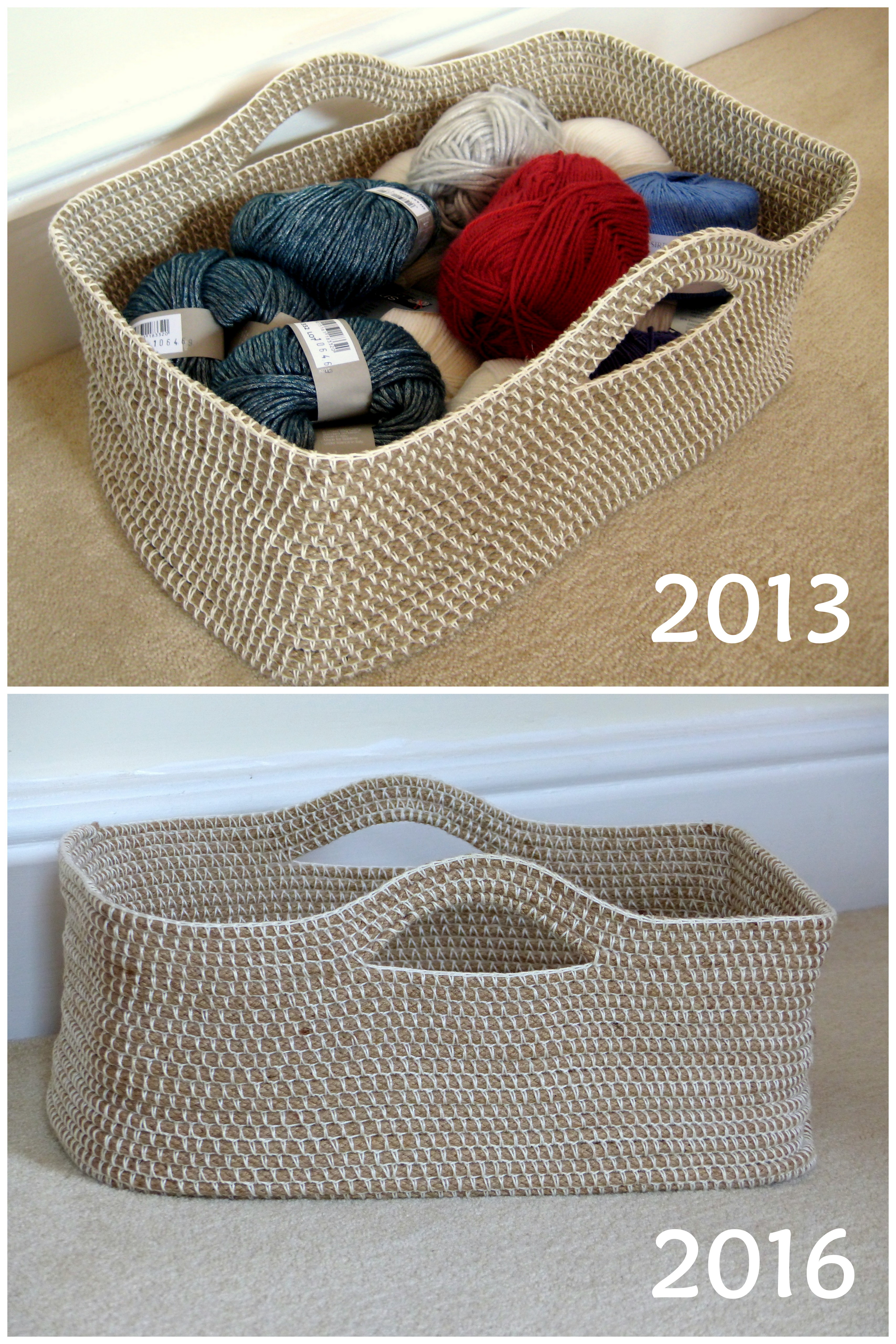 Crochet Rope Basket Free Pattern : Crochet Rope Basket Update Make My Day Creative