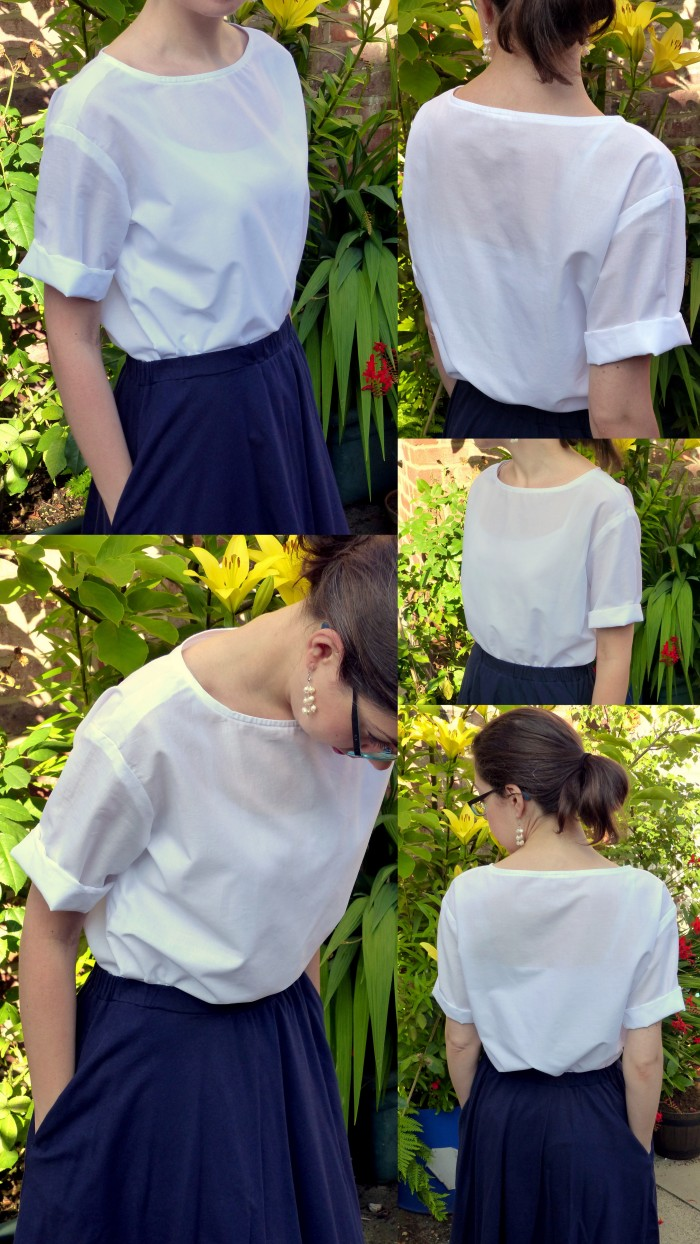 Sewing the Basics: Shell top (Simplicity 1366)