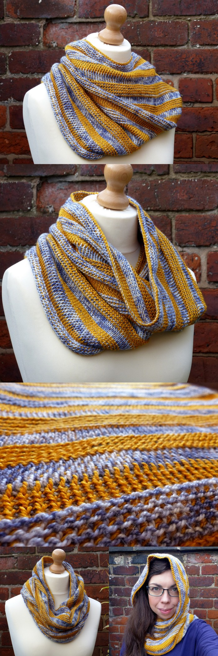 Strata Cowl - free crochet pattern by Make My Day Creative - Tunisian Crochet