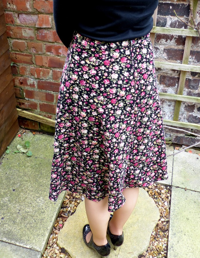 Self drafted circle skirt by Make My Day Creative - the back