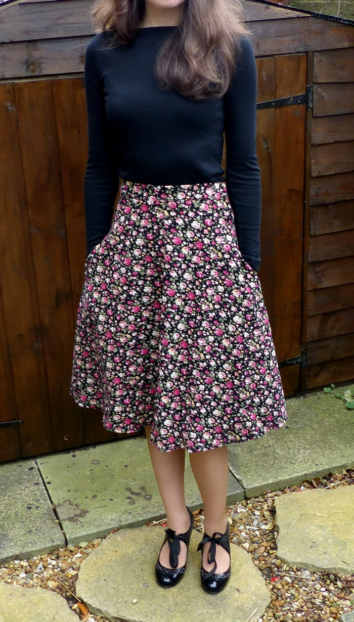 Self drafted circle skirt by Make My Day Creative