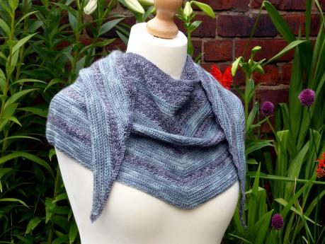 Horizon Shawl - Textured Crochet Pattern by Make My Day Creative