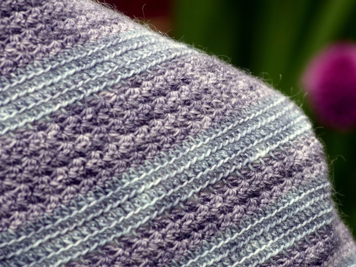 Horizon Shawl - Crochet Pattern by Make My Day Creative. Textured stripes!
